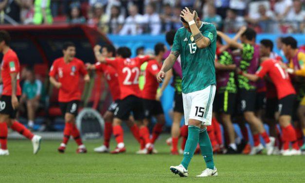 जर्मनी विश्वकपबाटै बाहिरियो, ब्राजिल अन्तिम १६मा