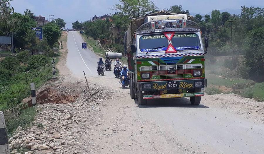 दाङका मुख्य चार राजमार्ग मर्मत गरिँदै