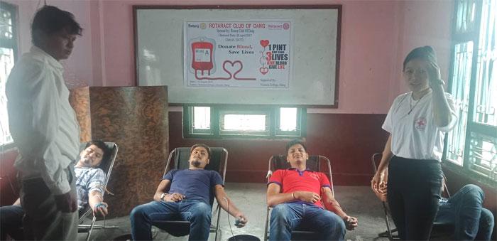युवा दिवसमा रक्तदान