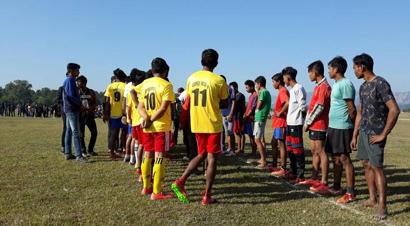राजपुरमा पहिलो पटक खेलकुद महोत्सव सुरु