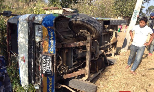 दमारगाउँ जादै गरेकाे बस दुर्घटना, २५ यात्रु घाइते, दुईको अबस्था गम्भीर