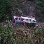 रोल्पामा बस दुर्घटना, २ जनाको मृत्यु, २३ घाइते