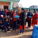 अनमी शर्मा द्धारा जन्मदिनमा एक सय ७० छात्रालाई प्याड र औषधी प्रदान