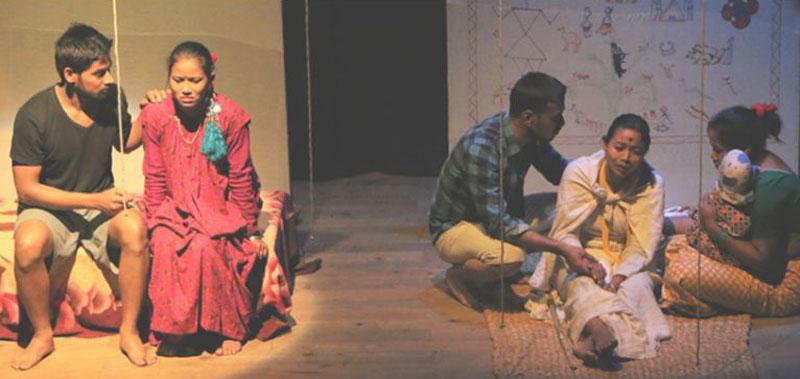 दाङमा 'करोट'को प्रदर्शन
