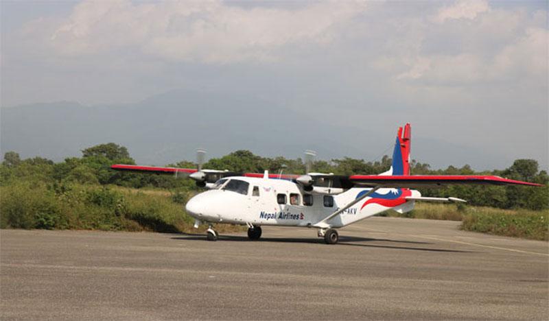 तुलसीपुर-काठमाडौ दैनिक २ उडान