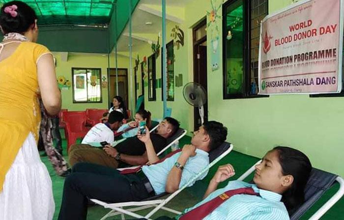 संस्कार पाठशालामा रक्तदाता दिवस मनाइयो