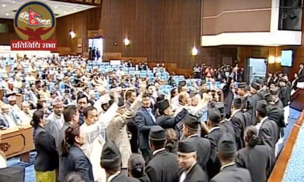 कांग्रेसद्वारा संसदमा विरोध, प्रधानमन्त्रीले बोल्न पाएनन्