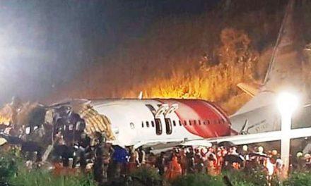 भारतको केरलामा विमान दुर्घटना, पाइलटसहित १७ जनाको मृत्यु