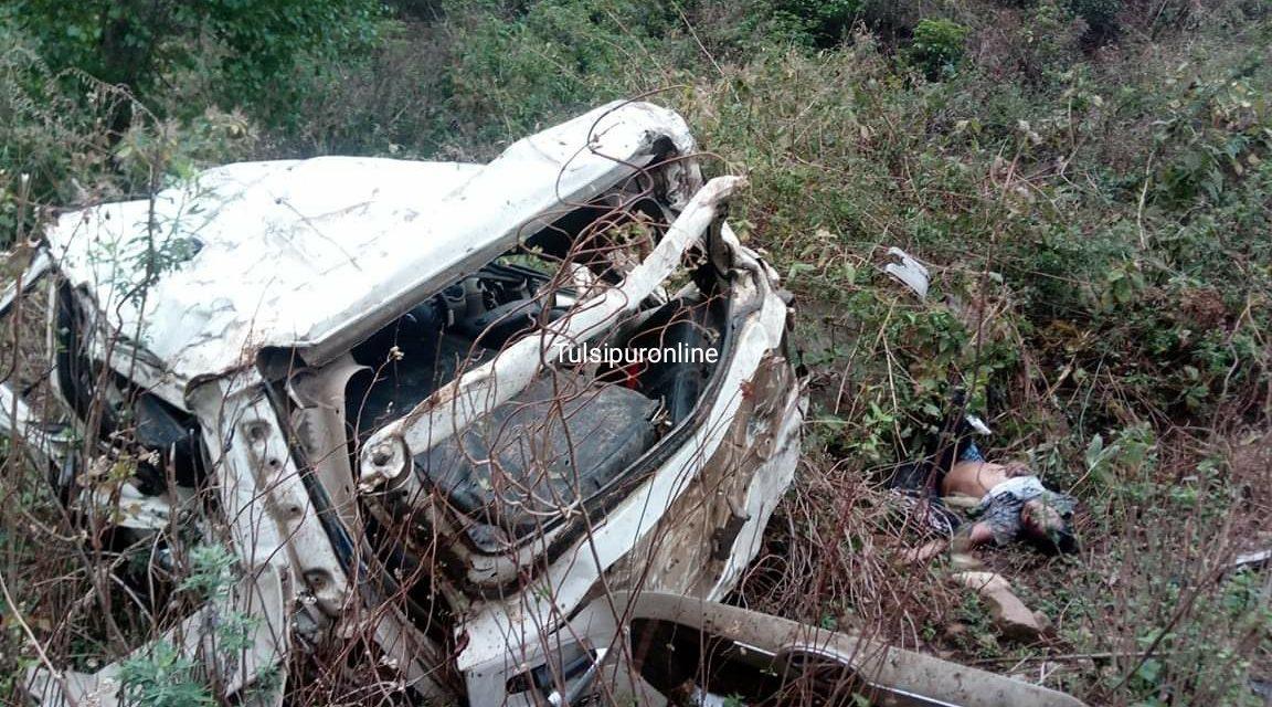 स्कारपियो दुर्घटना हुदा चालकको मृत्यु