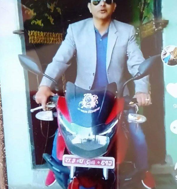 व्यवसायी रिजालको मोटरसाइकल चोरी