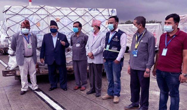 चीनबाट थप ४४ लाख डोज खोप नेपाल आइपुग्यो